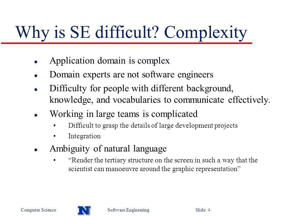 Computer ScienceSoftware Engineering Slide 5 Teamwork