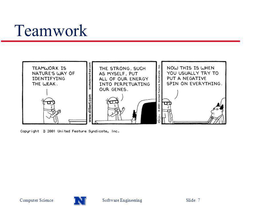 Computer ScienceSoftware Engineering Slide 7 Teamwork