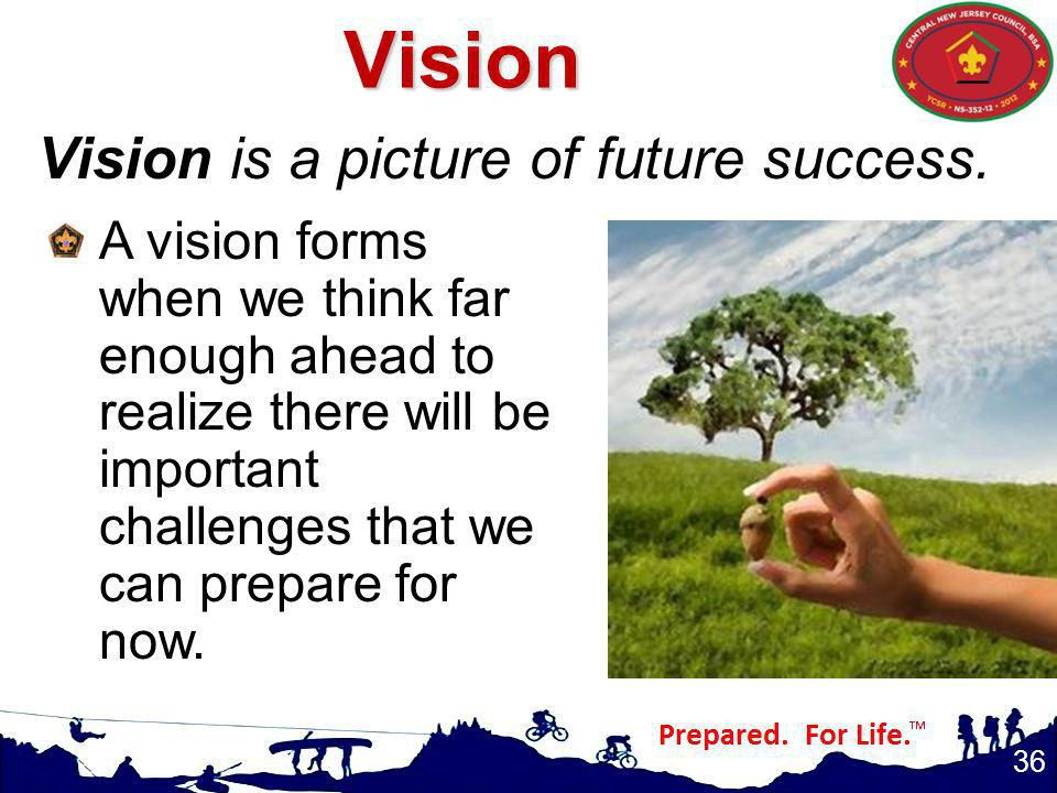 Vision is a picture of future success.