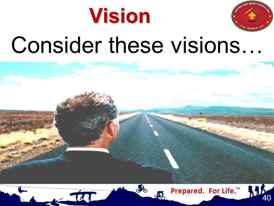 Consider these visions… 40 Vision