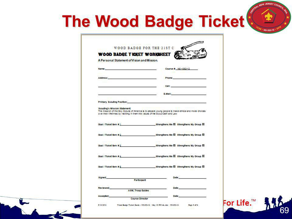 69 The Wood Badge Ticket