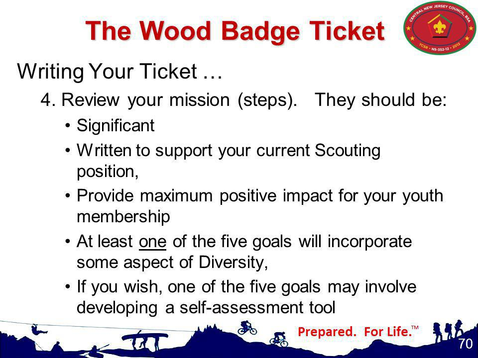 Writing Your Ticket … 4.Review your mission (steps).