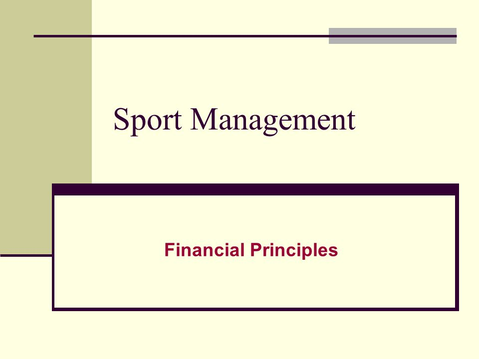 Financial Health of Sports Serious Financial Challenges Face Managers of Sport Organizations.