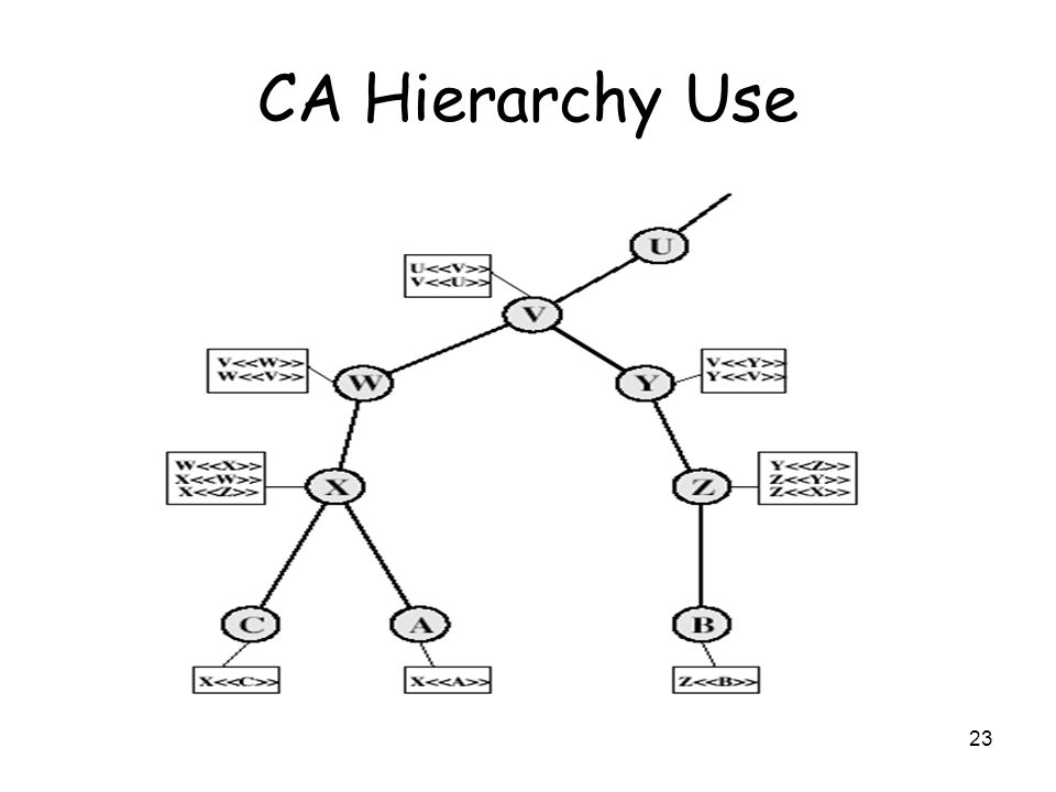 23 CA Hierarchy Use