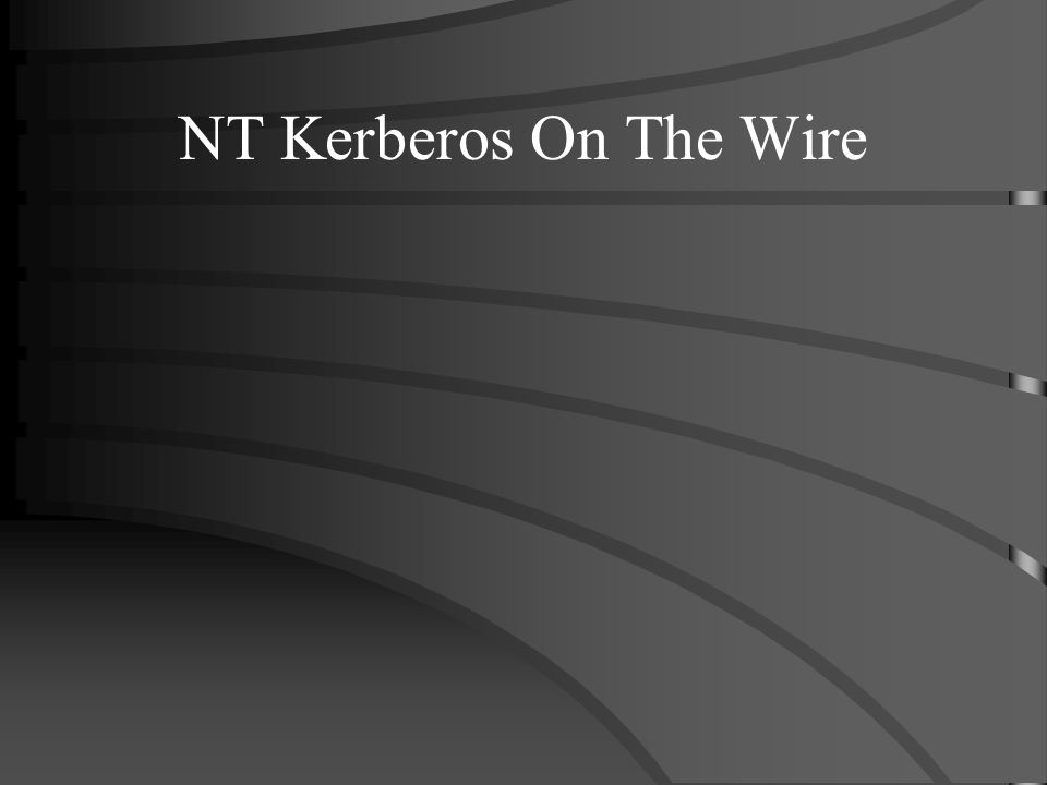 NT Kerberos On The Wire