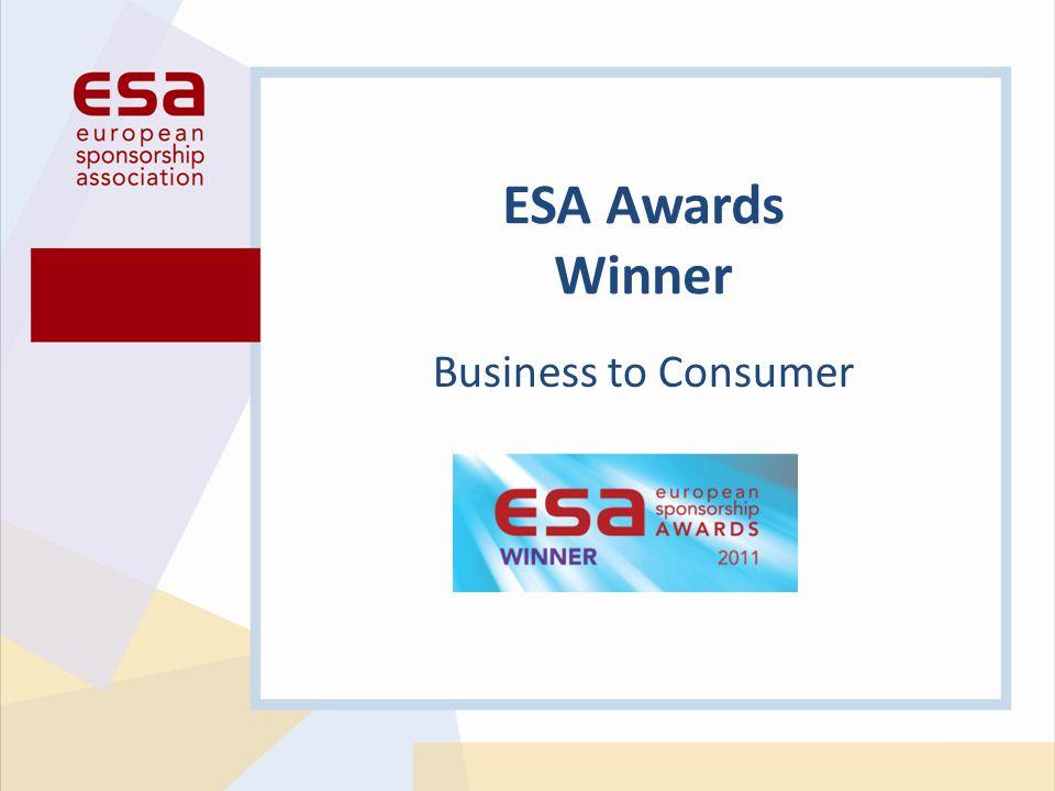 Business to Consumer ESA Awards Winner