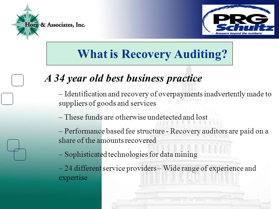 What is Recovery Auditing.