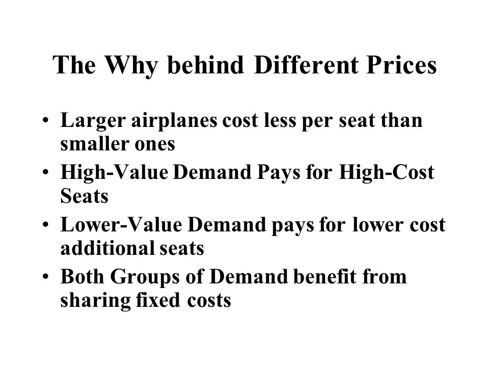 Summary of Revenue Management 1.Pricing and Sales control Dilution, not Revenue Management.