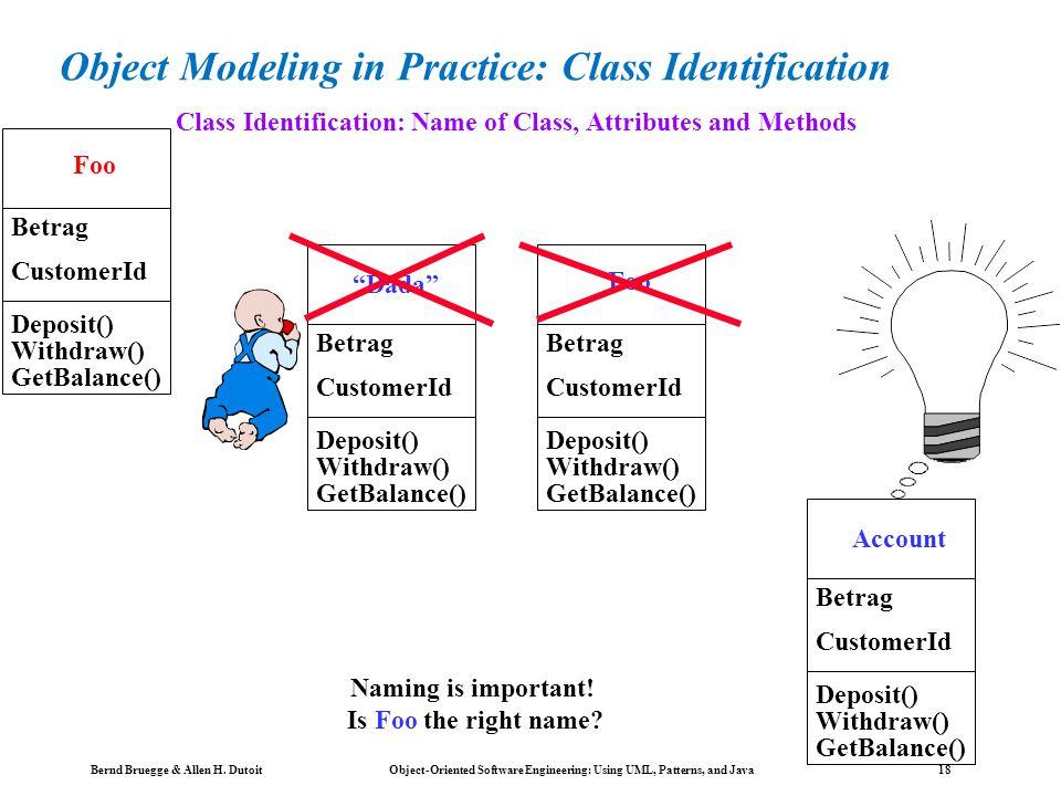 Bernd Bruegge & Allen H. Dutoit Object-Oriented Software Engineering: Using UML, Patterns, and Java 17 Inheritance The children classes inherit the at