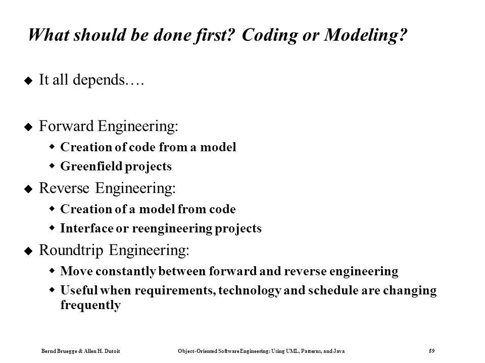 Bernd Bruegge & Allen H. Dutoit Object-Oriented Software Engineering: Using UML, Patterns, and Java 58 Other UML Notations UML provide other notations