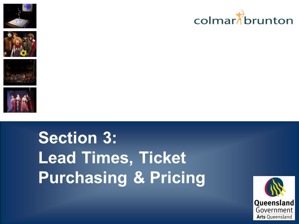 Section 3: Lead Times, Ticket Purchasing & Pricing