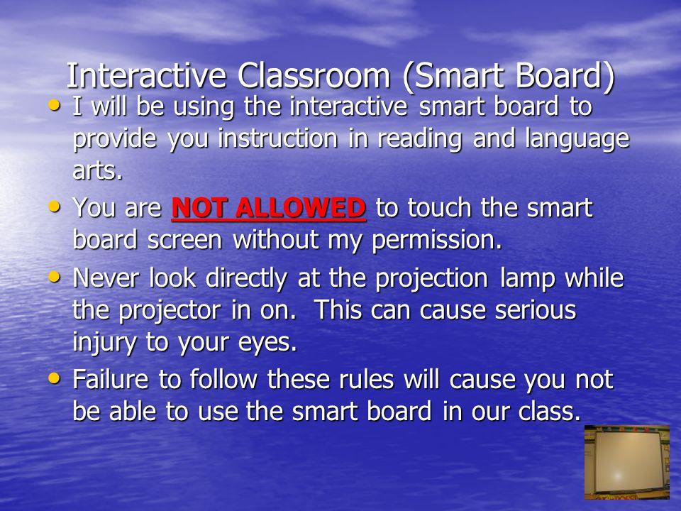 Discussion Topics Interactive classroom (Smart Board) Interactive classroom (Smart Board) Classroom Library Classroom Library Computer Lab Computer La