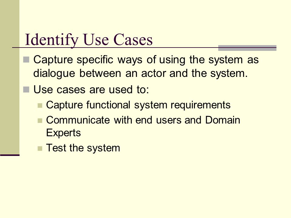 Non-human Actor Actors can be users, processes, and other systems.