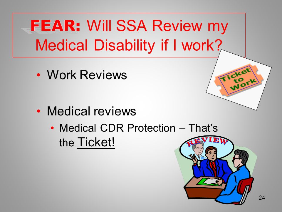 October, 200823 SSDI or SSI Current work is under SGA Same or related disabling condition Prior termination due to work activity Within 60 months of last entitlement 6 months Provisional Benefits