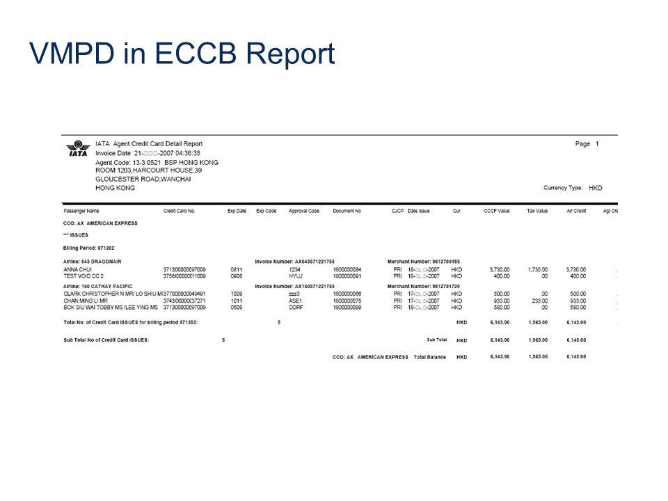 VMPD in ECCB Report