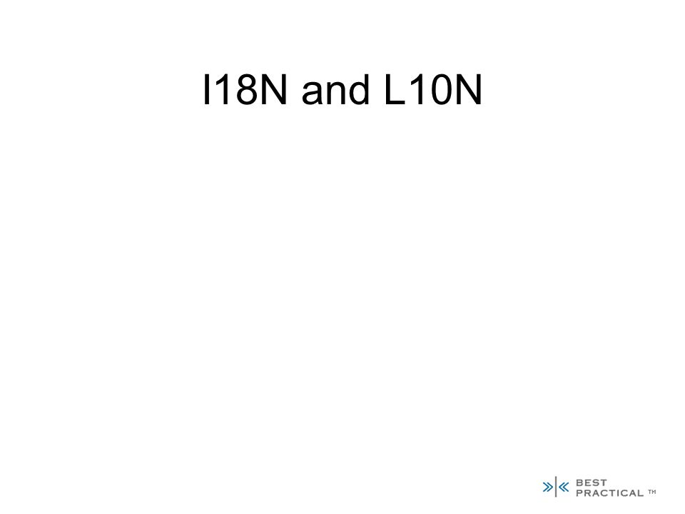 I18N and L10N