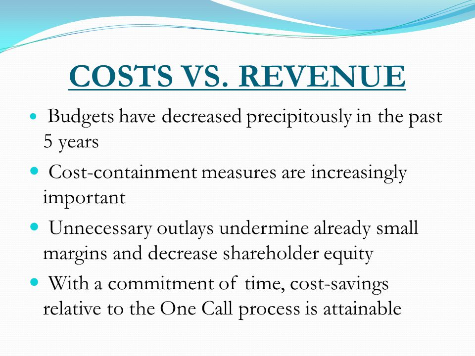 COSTS VS.