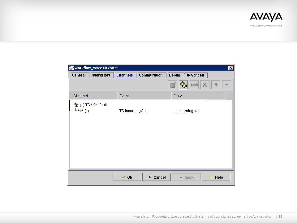 Avaya Inc. – Proprietary. Use pursuant to the terms of your signed agreement or Avaya policy.28