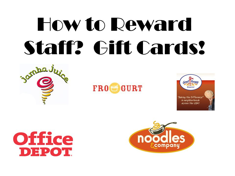 How to Reward Staff Gift Cards!