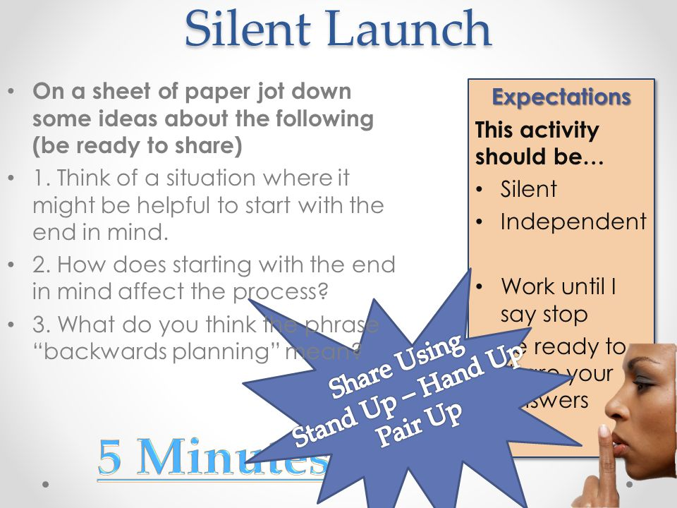 Silent Launch Expectations This activity should be… Silent Independent Work until I say stop Be ready to share your answersExpectations This activity