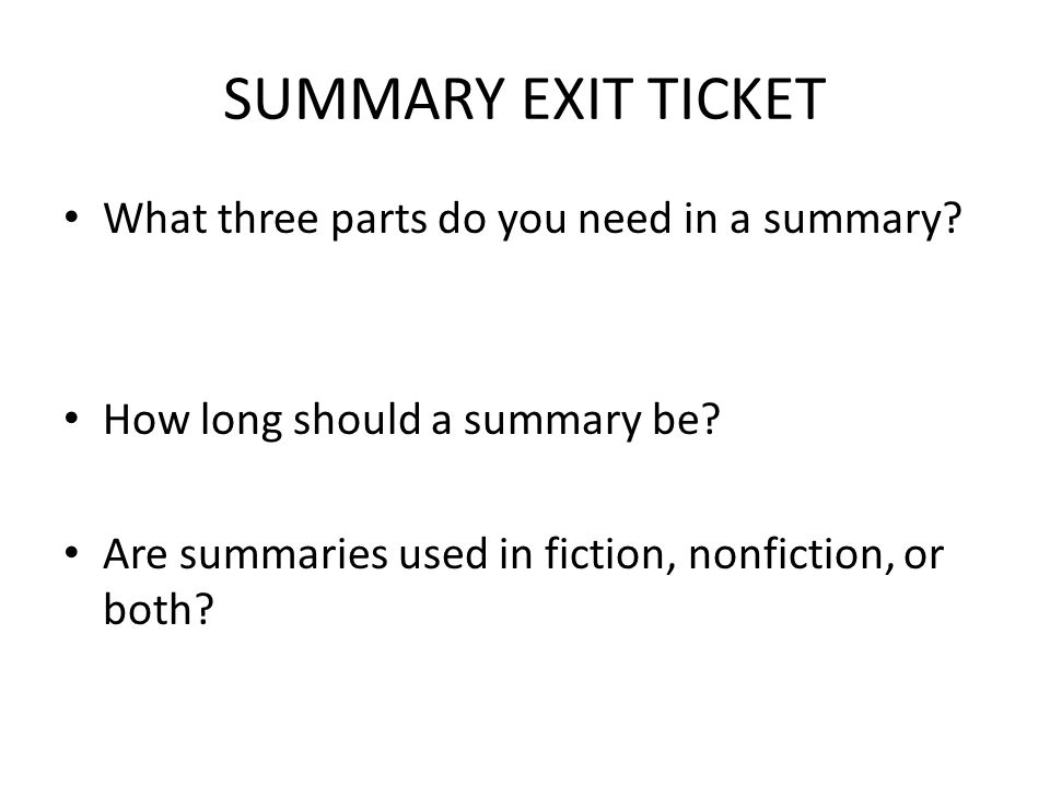 CONNECTIONS EXIT TICKET How can we make connections between texts.