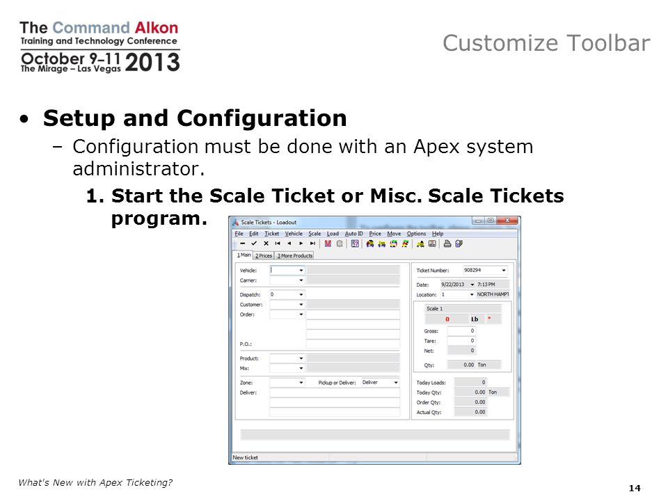 Customize Toolbar Setup and Configuration –Configuration must be done with an Apex system administrator.