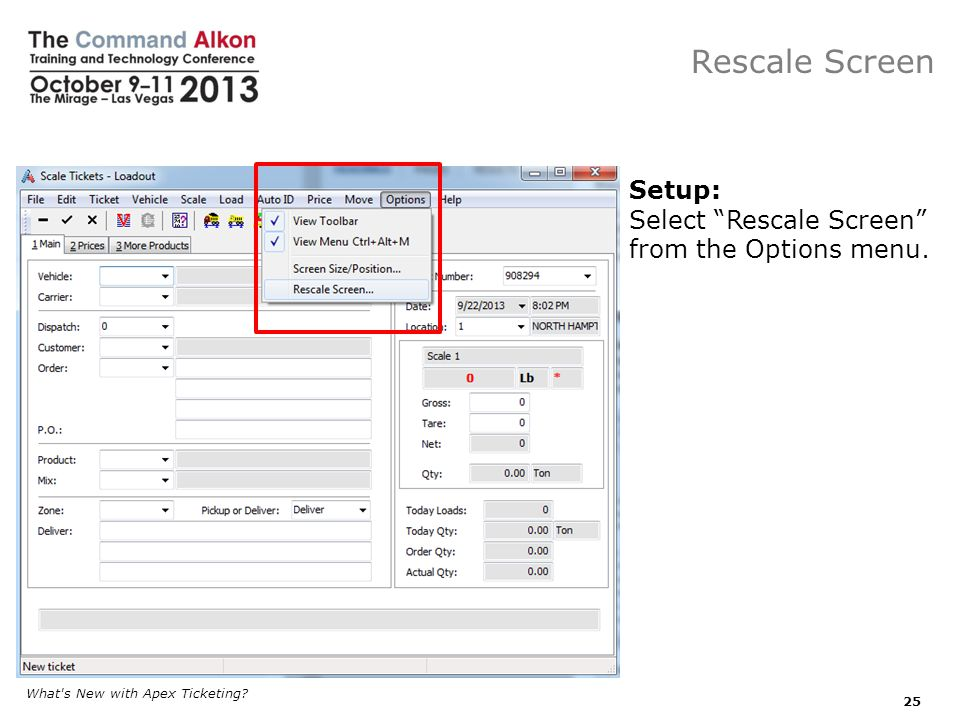 Rescale Screen What s New with Apex Ticketing.