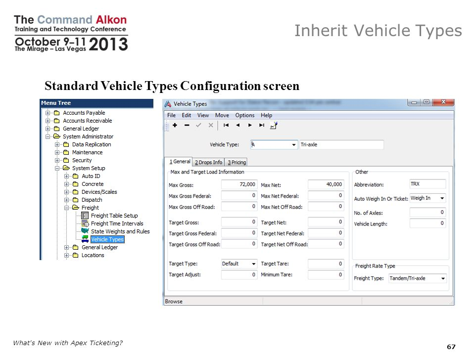 Inherit Vehicle Types What s New with Apex Ticketing.