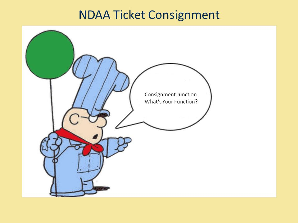NDAA Ticket Consignment Consignment Junction Whats Your Function