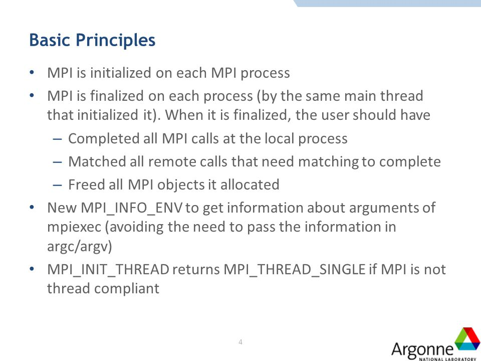 TICKET 310 – MULTIPLE MPI PROCESSES WITHIN ONE ADDRESS SPACE -- STATIC MODEL