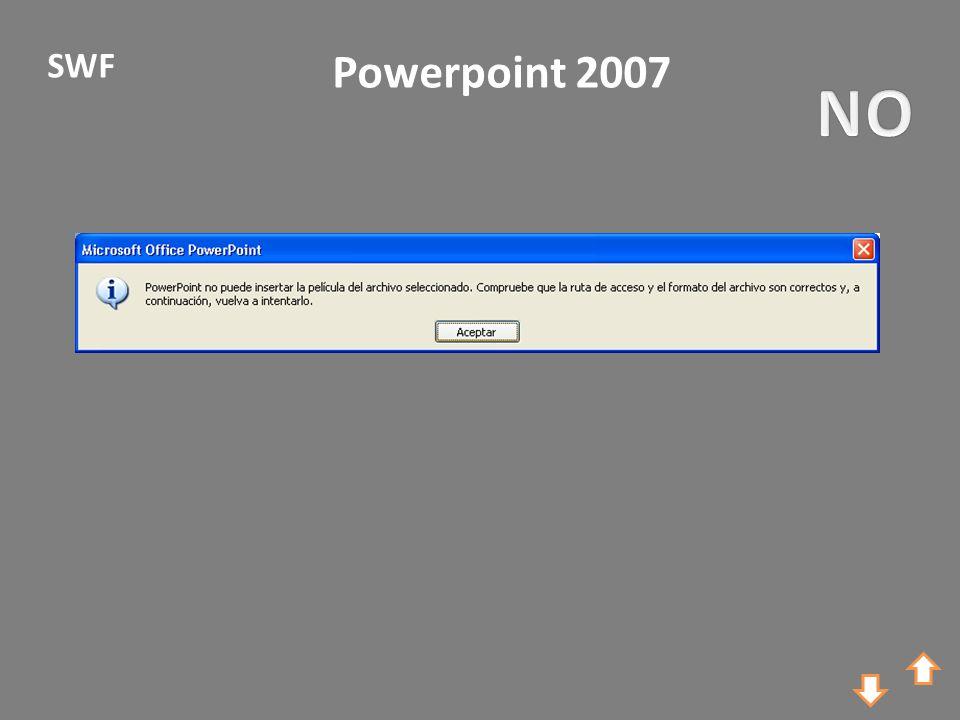 Powerpoint 2007 SWF