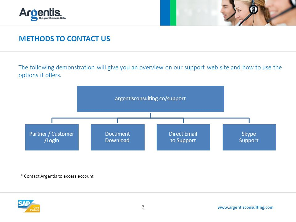 www.argentisconsulting.com THE FOLLOWING LIST DISPLAYS PRODUCT AVAILABILITY 4 IMPORTANT: Contact Argentis Consulting for functionalities related to products.