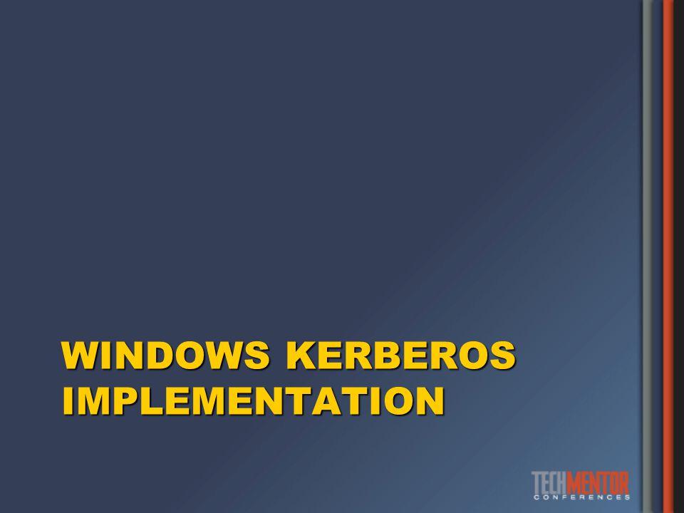 WINDOWS KERBEROS IMPLEMENTATION