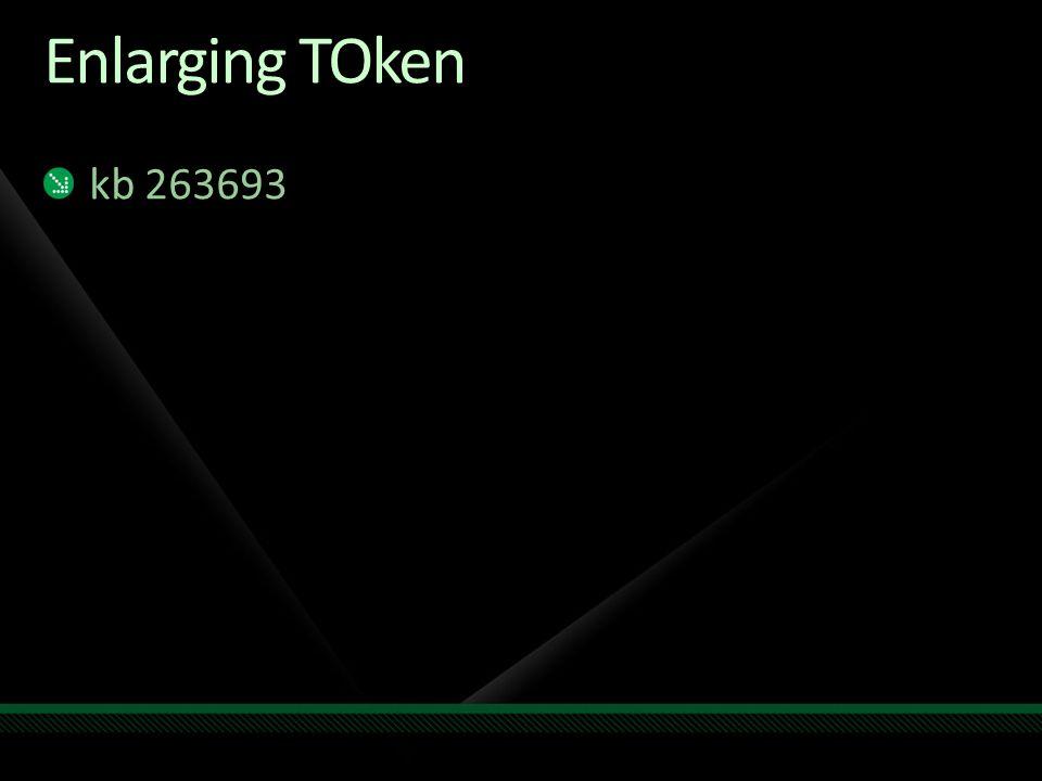 Enlarging TOken kb 263693