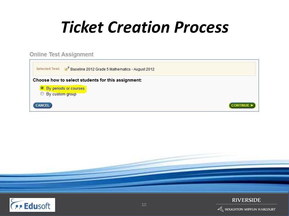 10 Ticket Creation Process