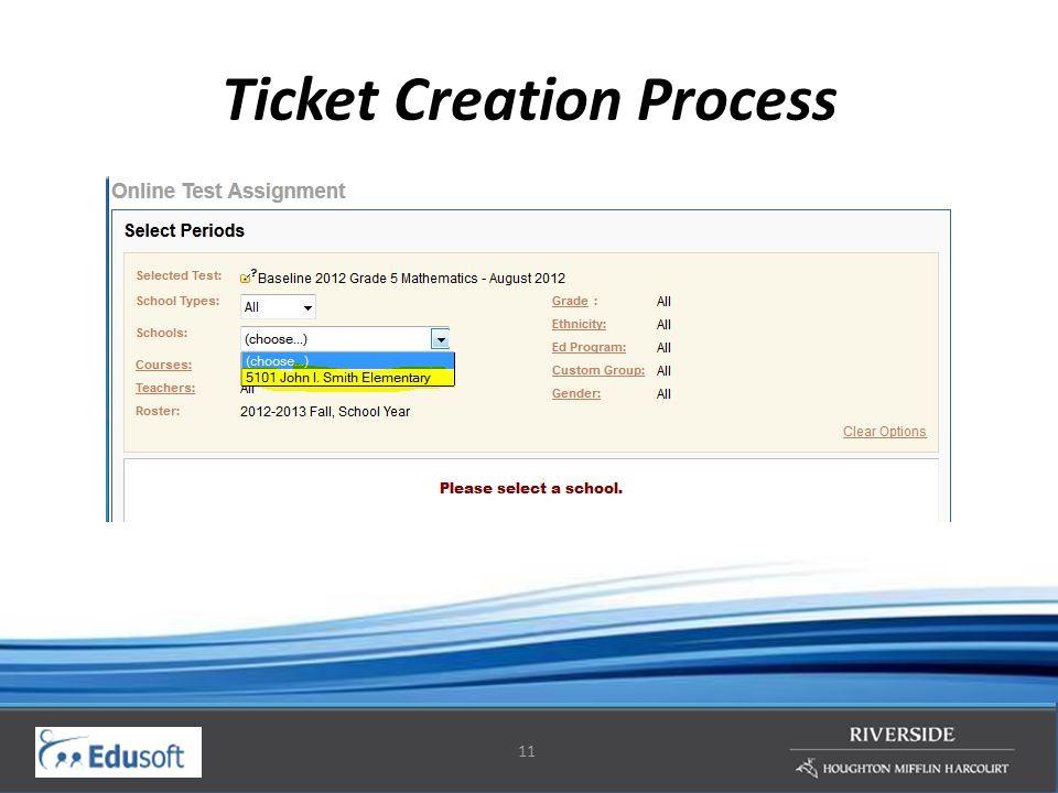 11 Ticket Creation Process