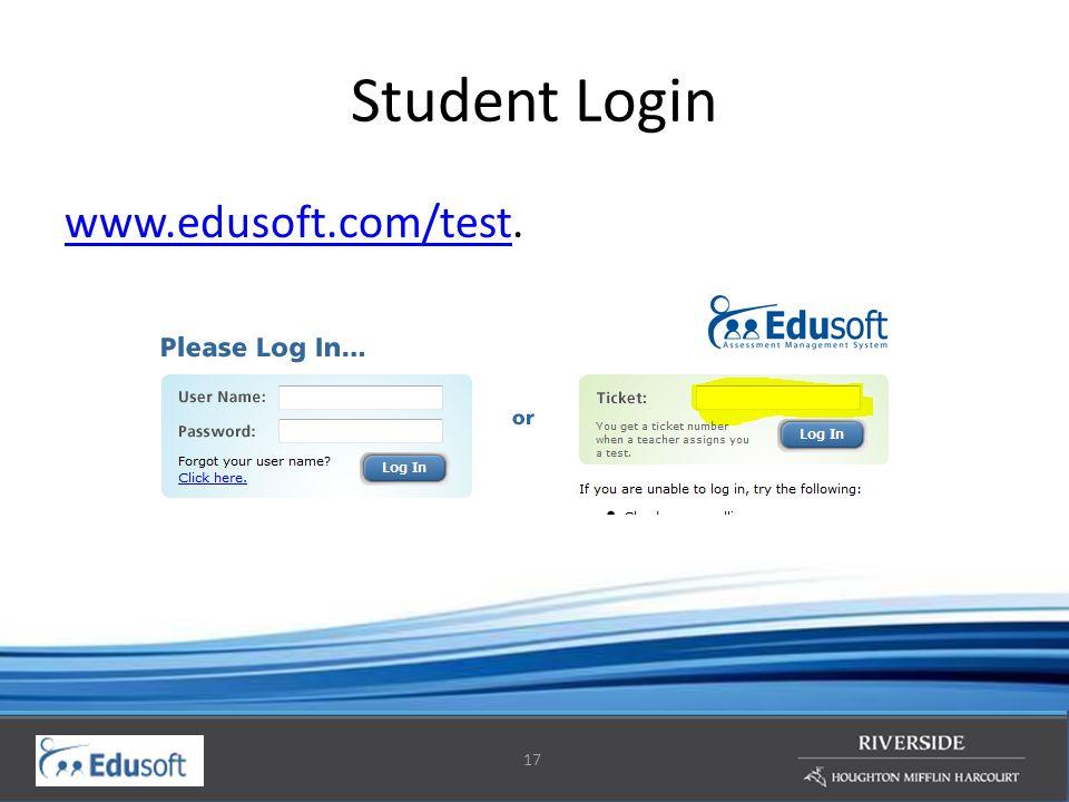 17 Student Login www.edusoft.com/testwww.edusoft.com/test.