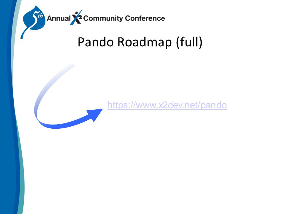 Pando Roadmap (full) https://www.x2dev.net/pando