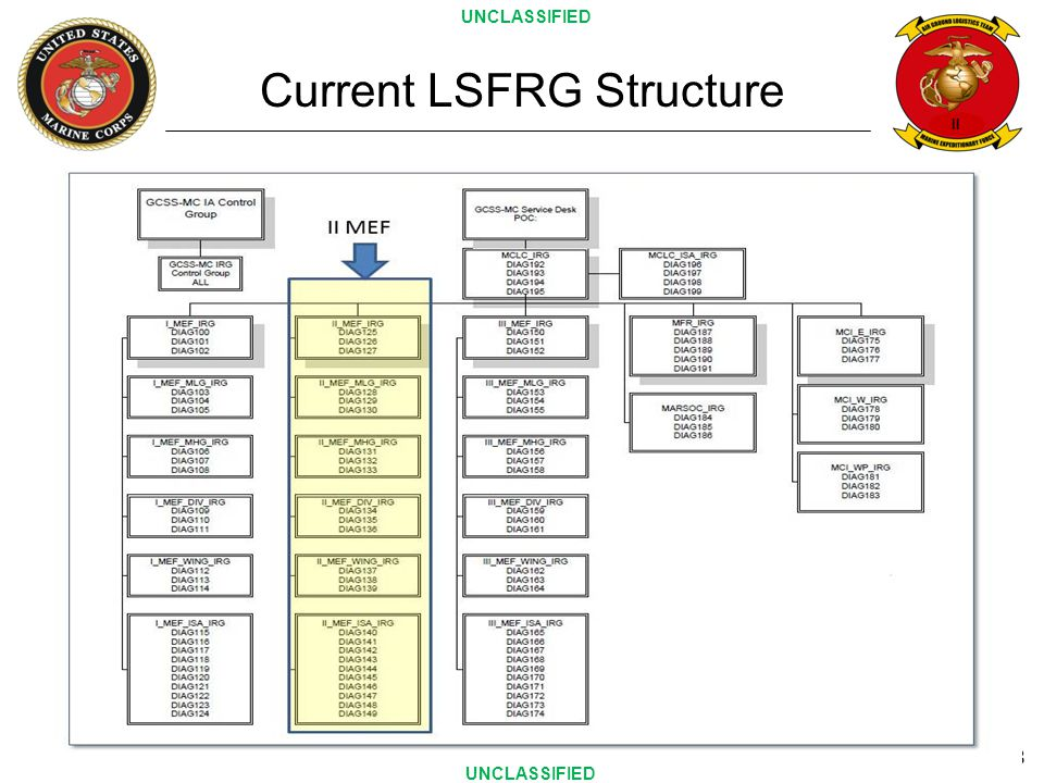 II 8 Current LSFRG Structure UNCLASSIFIED