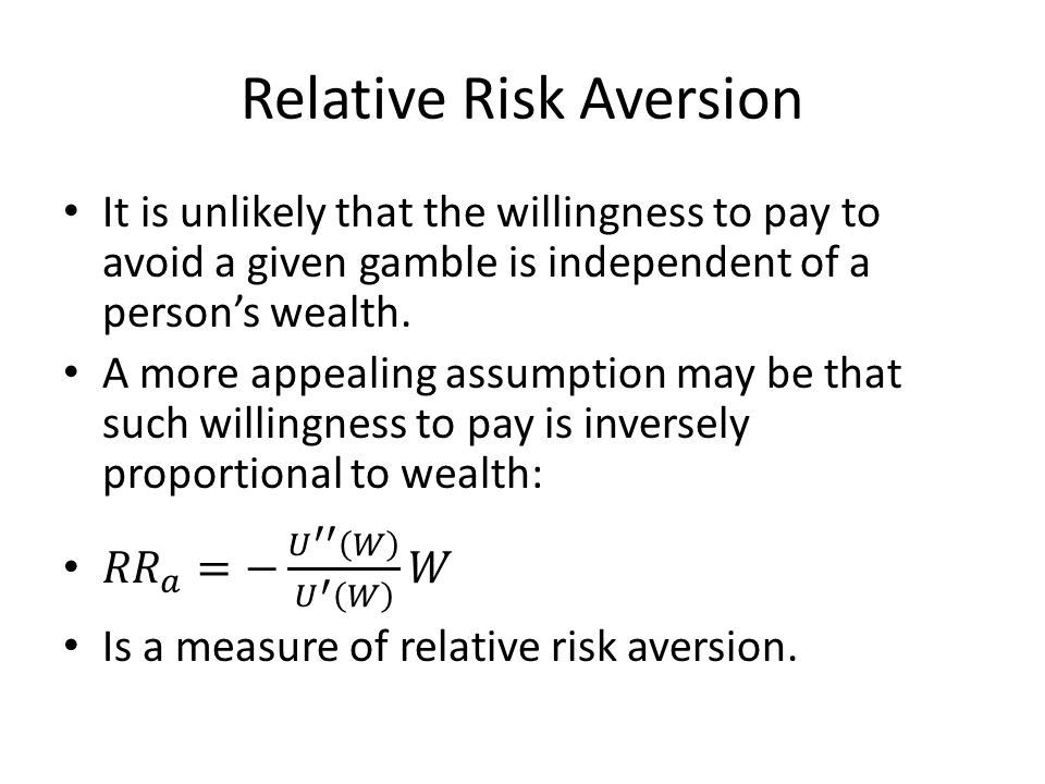 Relative Risk Aversion