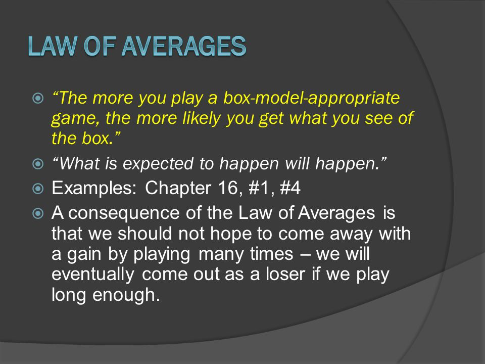 The more you play a box-model-appropriate game, the more likely you get what you see of the box.