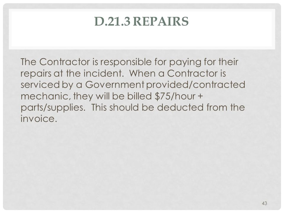 D.21.8.4. ENGINE CREW DOWNGRADE OR REJECTION All engines are required to arrive with 3 crewmembers to be considered compliant. If after acceptance at