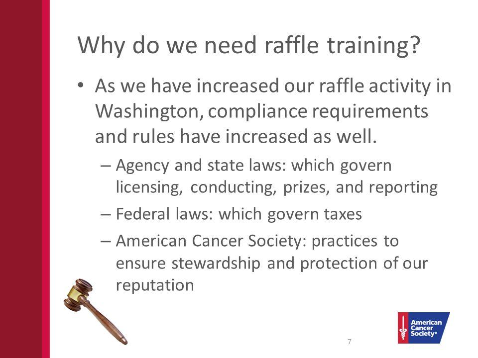 Why do we need raffle training.