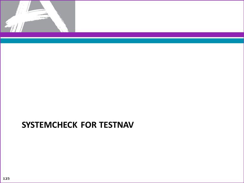 SYSTEMCHECK FOR TESTNAV 125