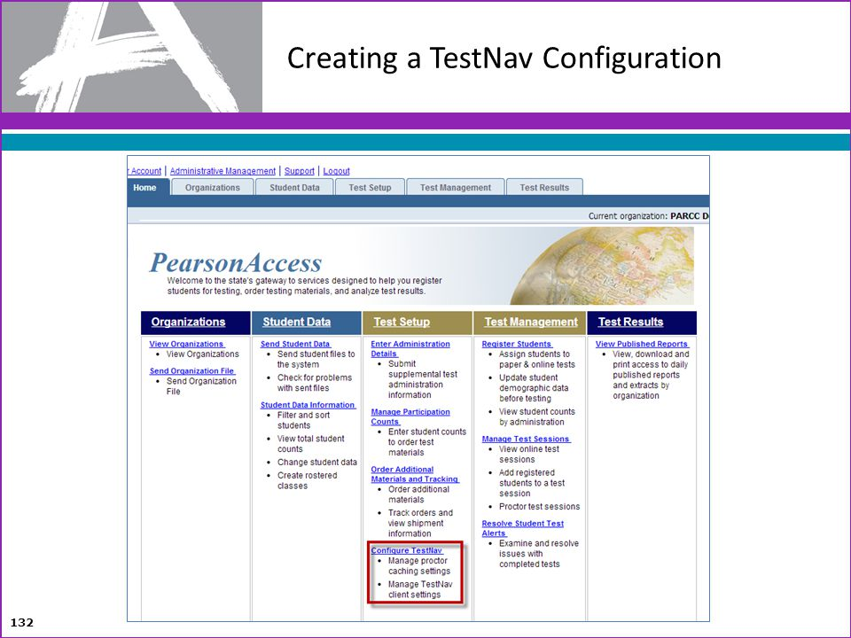 Creating a TestNav Configuration 132