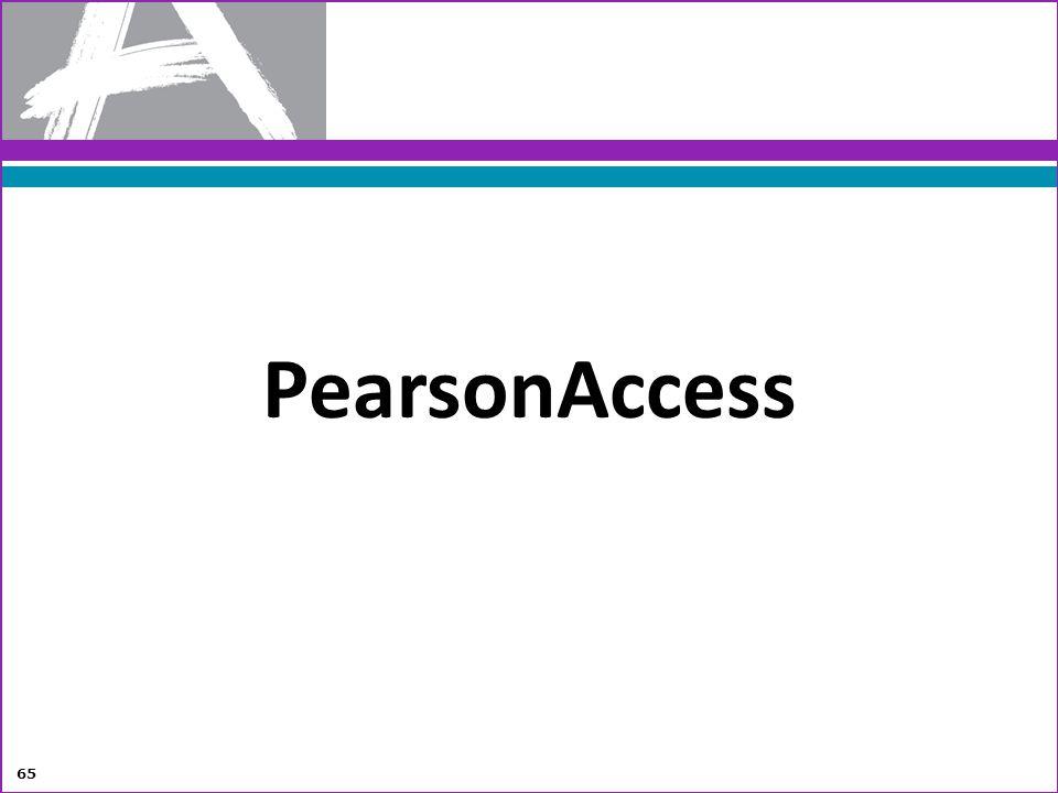 PearsonAccess 65