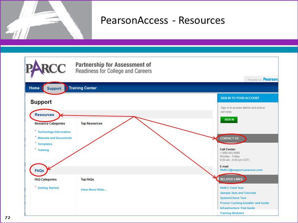 PearsonAccess - Resources 72