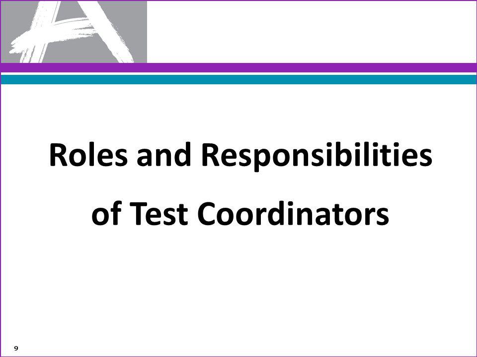 Roles and Responsibilities of Test Coordinators 9