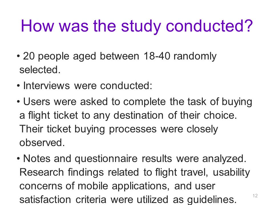 How was the study conducted. 20 people aged between 18-40 randomly selected.