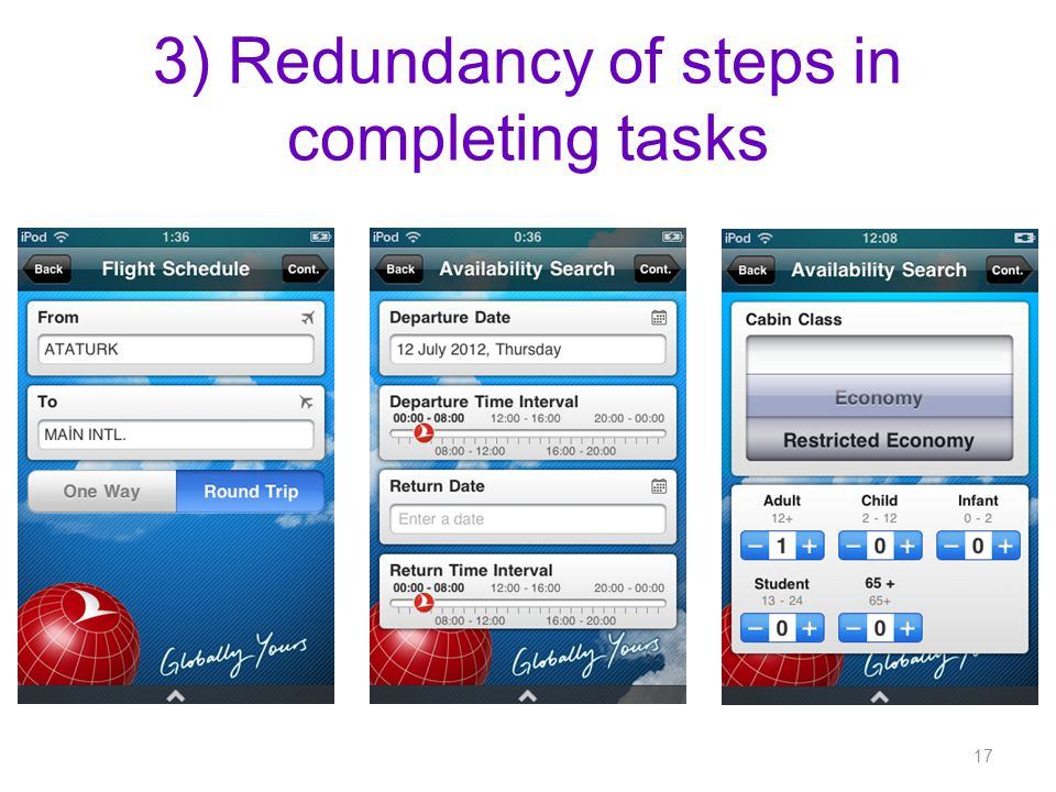 3) Redundancy of steps in completing tasks 17